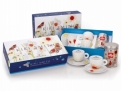 Kiki Smith 2 Cappuccino Cups + Coffee Gift Set
